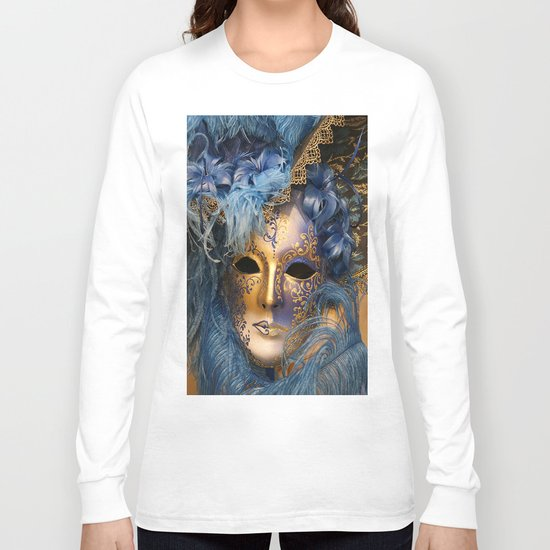 Venetian Mascaraed Long Sleeve T-shirt