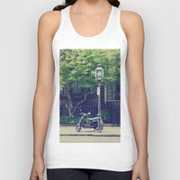vespa Tank Tops featuring Vespa by thirteesiks