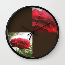 Red Rose with Light 1 Blank Q3F0 Wall Clock