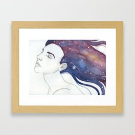 Follicular Galaxy Framed Art Print