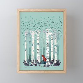 The Birches Framed Mini Art Print