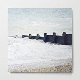 Stone beach Metal Print