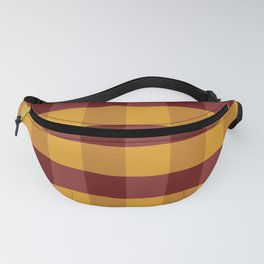 Red and Gold Checkered Pattern Fanny Pack