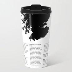 Distilleries of Scotland Metal Travel Mug