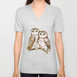 Two cute owls Unisex V-Neck