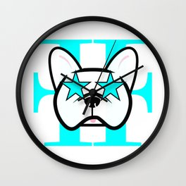 French Bulldog Fanatic Wall Clock