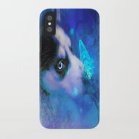husky iPhone & iPod Cases featuring Husky by morgenleedahl