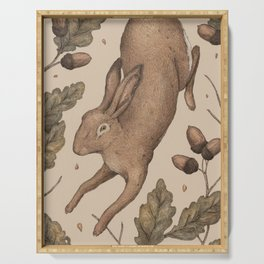 The Hare and Oak Serving Tray