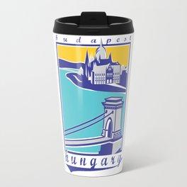 Széchenyi Chain Bridge - Budapest, Hungary Travel Mug