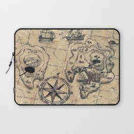 Old Nautical Map Laptop Sleeve