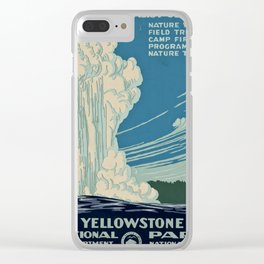 Yellowstone Works Progress Administration Clear iPhone Case