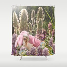 Hoppy Spring Shower Curtain