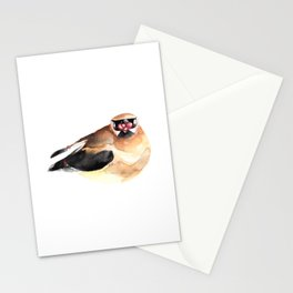 Greedy Waxwing Stationery Cards