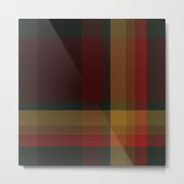 Christmas Plaid 10 Metal Print