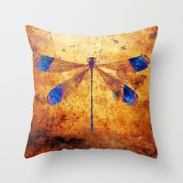 Dragonfly in Amber Throw Pillow