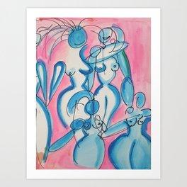 Indigo Goddesses Art Print