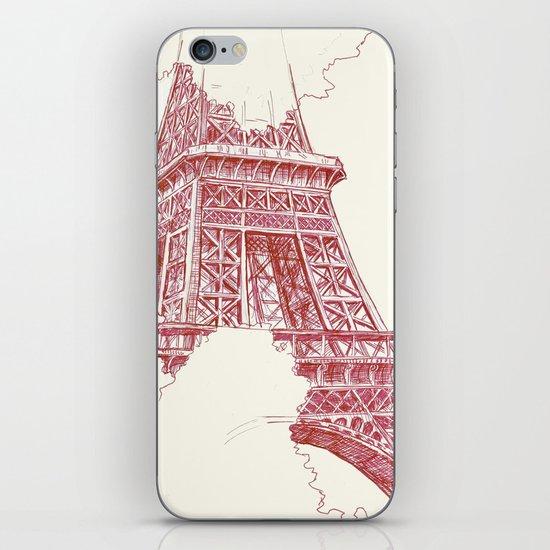 Eiffel Tower Sketch iPhone & iPod Skin