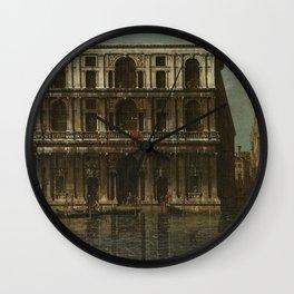 Venice, Palazzo Grimani by Canaletto Wall Clock