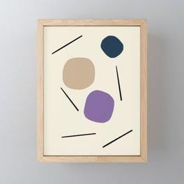 Simple Mid-Century Line Art #4 Framed Mini Art Print