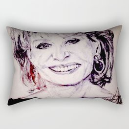 Barbara Walters Rectangular Pillow