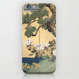 Paulownias and Chrysanthemums iPhone Case