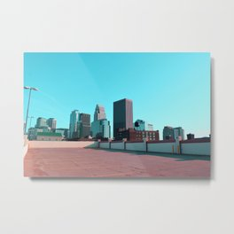 Minneapolis Minnesota Skyline Wide Angle Metal Print