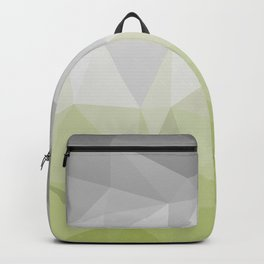 light green and grey polygon Backpack