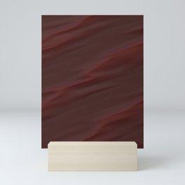Maroon red wavy dynamic Mini Art Print