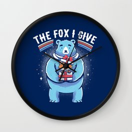 The Fox I Give Wall Clock