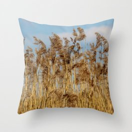 Lenz gently blowing the stalks Throw Pillow