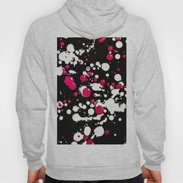Neon Paint Splats and Spots on Black Hoody