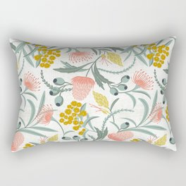 Flora Australis White Rectangular Pillow