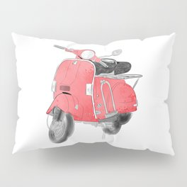 Red moto Pillow Sham