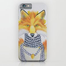 Fox Fur and Pearls Slim Case iPhone 6s