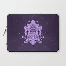 Gentle Pastel Violet Lotus Flower Laptop Sleeve