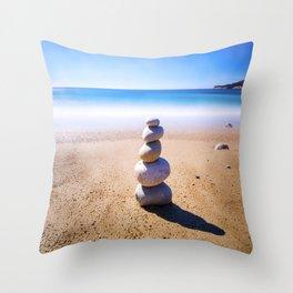 Cassis Stone Pile Throw Pillow