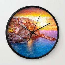 Artwork - Manarola Wall Clock