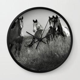 Cariboo Horses Wall Clock