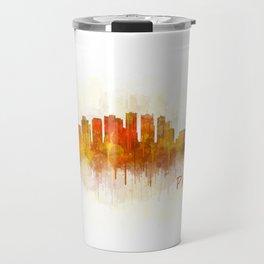 Phoenix Arizona, City Skyline Cityscape Hq v3 Travel Mug