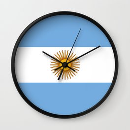 Flag of argentina -Argentine,Argentinian,Argentino,Buenos Aires,cordoba,Tago, Borges. Wall Clock