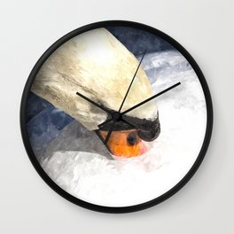 Swan Watercolour Art Wall Clock