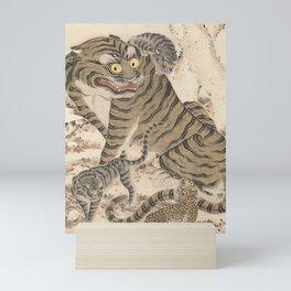 Tiger Family, Korean Art, 1800s Mini Art Print