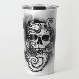 Skull and Octopus Together Forever by annmariescreations Travel Mug