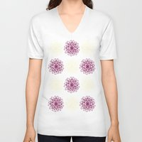 wallpaper V-neck T-shirts featuring wallpaper by Art Stuff