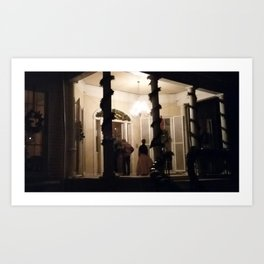 Violet Bank by Candle Light Art Print