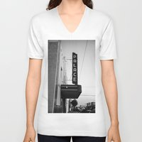 theater V-neck T-shirts featuring Palace Theater by Teran Jones