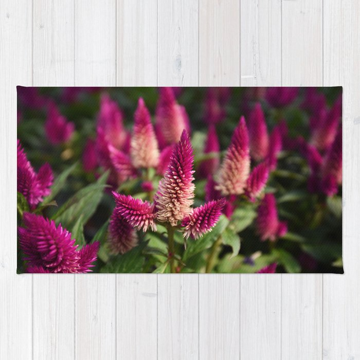 Flower Purple Meadow   Botanical   Plant Photography   Nature Rug