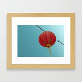 Chinese Lantern in Chinatown LA Framed Art Print