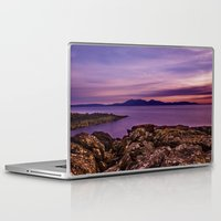 west coast Laptop & iPad Skins featuring West Coast Goodnight by Paul & Fe Photography
