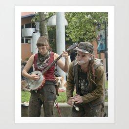 Banjo & the Smoker Art Print